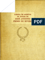 Corona de Sonetos en Honor de Jose Antonio Primo de Rivera