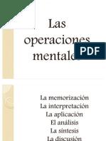 Las operaciones mentales