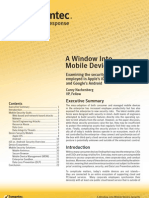 Symantec Mobile Device Security Study