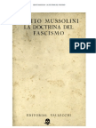 La Doctrina Del Fascismo Benito Mussolini