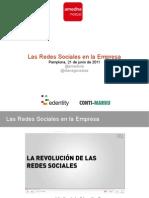 Las redes sociales en la empresa. Amedna (Edentity & Contimarku)