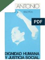 Jose Antonio Primo de Rivera Dignidad Humana y Justicia Social