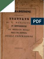 La Tradizione, trattato di Luigi Desanctis - 1850