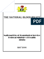 Approved Nigerian National Blood Policy