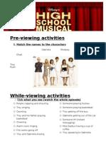 High School Musical 1 Worksheet