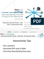 Cloud Security Pain Points