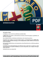 Alfa Romeo 159 Handbuch