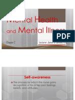 N107A Psychiatric Nursing - 2. Mental Health and Mental Illness