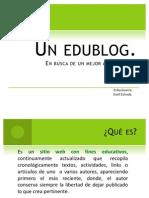 Un edublog. n