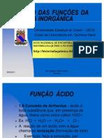 ESTUDO DAS FUNÇÕES DA QUÍMICA INORGÂNICA