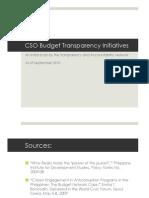 Budget Transparency Initiatives PPT Sept 2010