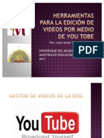 Herramientas para la edición de videos por medio