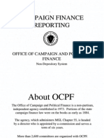 Massachusetts Campaign Finance Reporting 2011