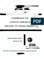 Conference on Langley Research Related to the Apollo Mission