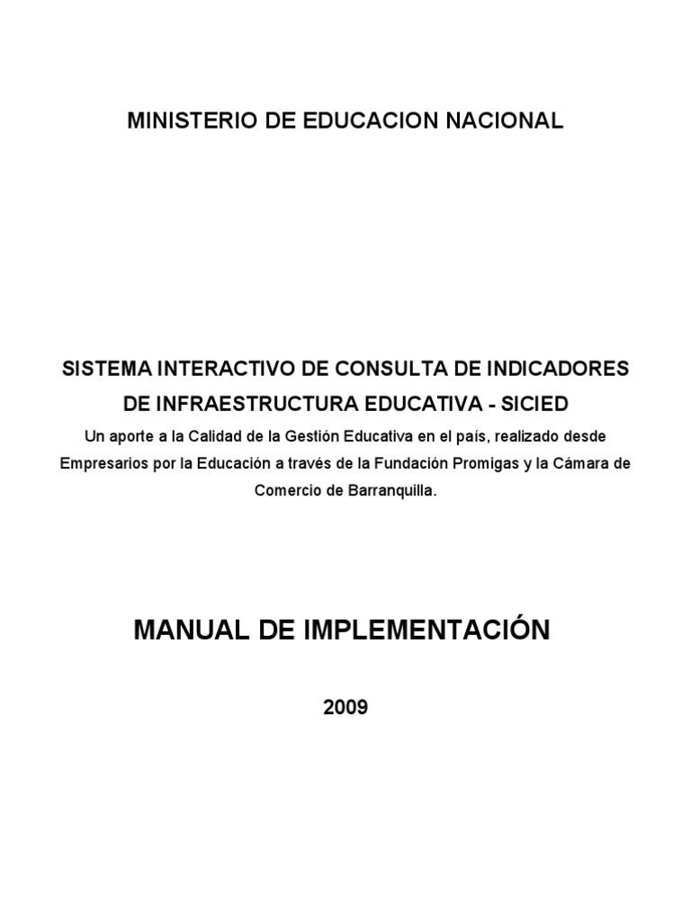 Manual SICIED 01 - Implementacion