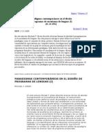 Paradigmas contemporáneos en el diseño de programas de enseñanza de lenguas I