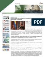 Ministerio del Poder Popular para la Energía Eléctrica - Estado Mayor Eléctrico anuncia medidas para Uso Racional y Eficiente de la Energía