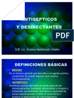 ANTISEPTICOS DESINFECTANTES