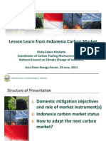 Dicky Edwin Hindarto - Lessons From Indonesia Carbon Market