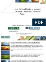 Philippe Delhaise - The Limitations of Carbon Credits as a Source of Financing