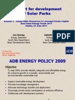 Satoshi Fukushima Len George - Support for Development of Solar Parks