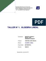 Taller de Algebra Lineal de  GRISEILA MENDOZA