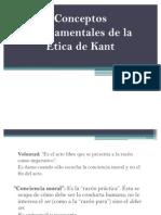 Etica de Kant Conceptos Fund. y Principios