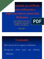 La Tributacion en El Peru- Historia Tri but Aria y Aspectos Claves Para Una Reforma