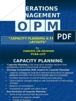 6. Capacity Planning & Facilities Layout