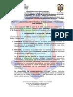 Sistema Institucional de Eval y Promocion 2011