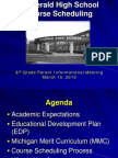 Id2278th Grade Scheduling Parent Presentation March 2010
