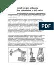 Noţiuni generale despre utilizarea acţionărilor pneumatice şi hidraulice