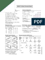 16- MCAT G-Chem Formula Sheet