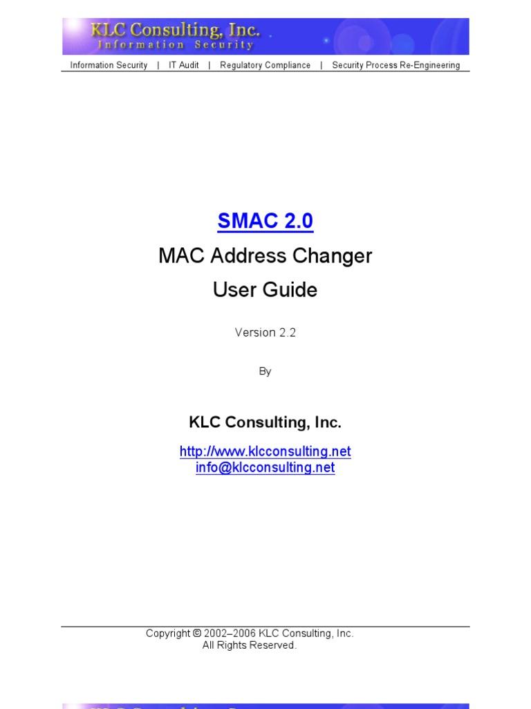 smac mac address changer registration key