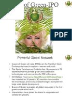 Queen of Green (QOG) - IPO presentation