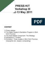 Press Kit - Workshop III