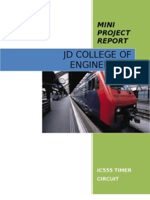 Project report on IC 555 Timer Circuit | Electrical Circuits