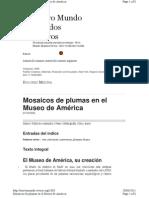 Medina, D. Mosaicos de Plumas. 2006