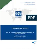 WSSP - Formulation Report