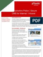 Lincoln Shire Police Case Study
