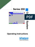 Vinten Series 200  Touch Screen Camera Control