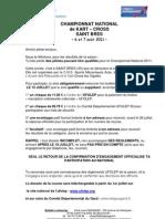 Bulletin D-Inscription Des Pilotes 11 Saint Bres
