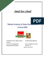 Amul Marketing Project