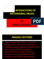 Drug Interactions of Antianginal Drugs..