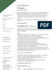 IT Support CV Template