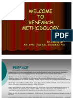 Welcome to Research Methodology