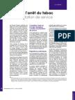 L'aide à l'arrêt du tabac - une prestation de service (Luc DUSSART, Préventique n° 27, avril 2006)