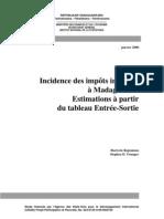 Incidence des impôts indirects à Madagascar