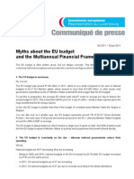 Myths about the EU budget