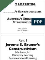 Educ22 Report- Bruner & Ausubel (Sjsabio)
